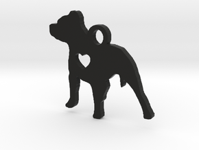 Pittie Love Pendant - All Profits for Charity in Black Strong & Flexible