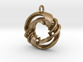 Fantasy-02 in Polished Gold Steel
