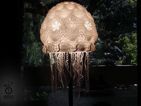 Jellyfish lampshade top : part A in White Strong & Flexible