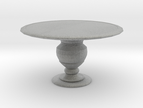 1:144 Scale Miniature Round Dining Table in Metallic Plastic