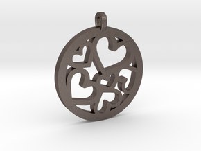 Hearts Pendant in Stainless Steel