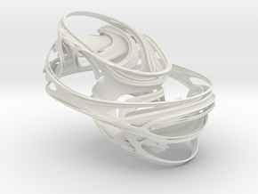 4D Quaternion Julia Set, 3/50 in White Strong & Flexible