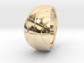 Size 12 Basketball Ring  in 14K Gold