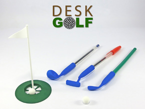 Desk Golf (BASIC SET) in White Strong & Flexible