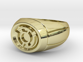 Yellow Lantern Ring in 18K Gold Plated