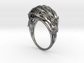 Oath Ring (size 7.25) in Polished Silver
