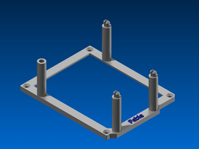 High desktop stand for Arduino Duemilanove in Blue Strong & Flexible Polished