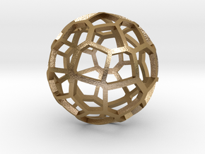 Voronoi sphere 2 in Polished Gold Steel
