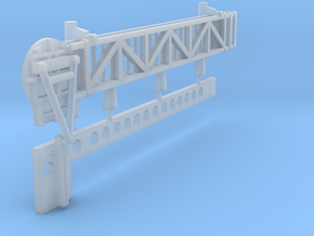 1:96 scale Walkway - Port - Long in Frosted Ultra Detail