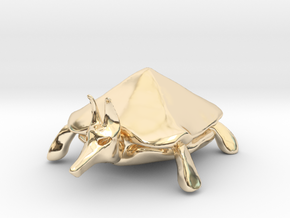 Otherworldly Turtle #2 in 14K Gold