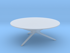 Mid-Century Modern Round Coffee Table 1:48 in Frosted Ultra Detail