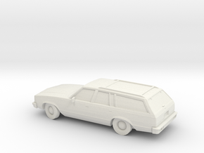 1/87 1980 Chevrolet Malibu Station Wagon  in White Strong & Flexible