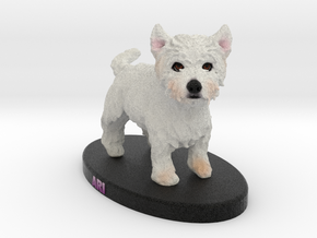 Custom Dog FIgurine - Ari in Full Color Sandstone