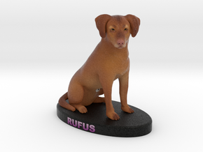 Custom Dog Figurine - Rufus in Full Color Sandstone