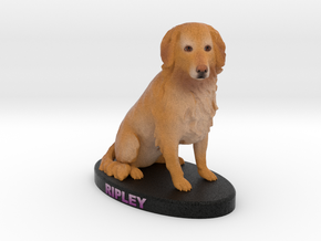 Custom Dog Figurine - Ripley in Full Color Sandstone