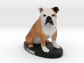 Custom Dog Figurine - Tank in Full Color Sandstone