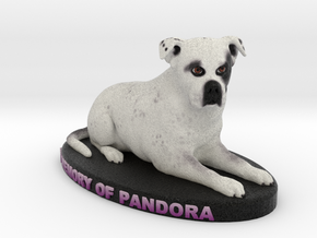 Custom Dog Figurine - Pandora in Full Color Sandstone