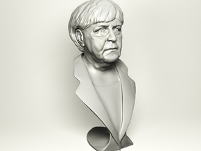 Angela Merkel in Polished Metallic Plastic