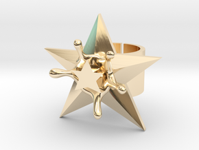 StarSplash statement ring size 6 US open design in 14k Gold Plated