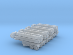 Stowed S-400 Missile Battery 6mm  in Frosted Ultra Detail
