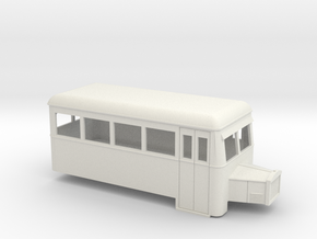009 short single-ended railbus with bonnet  in White Strong & Flexible