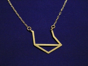 Libra Pendant in Raw Brass