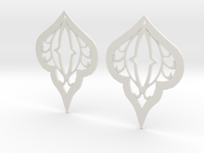 Earring Filigree in White Strong & Flexible