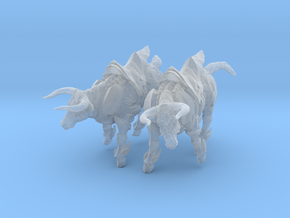 Bronze Bull Rev5 - Pose 1 in Frosted Ultra Detail