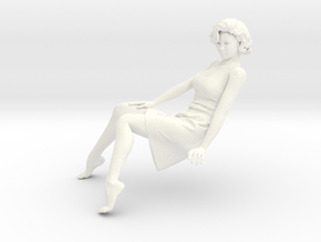Lady sitting-015 scale 1/24 Passed in White Strong & Flexible Polished