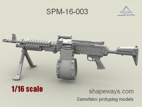 1/16 SPM-16-003 m240L 7.62mm machine gun in Frosted Extreme Detail