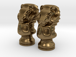 Pair Lion Chess Big / Timur Asad Piece in Raw Bronze