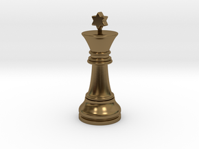 Single Chess King Star Big | Timur Prince Vizir in Polished Bronze