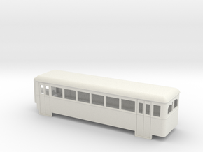 009 articulated railcar 6 window rear section in White Strong & Flexible