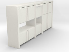A 003 Sideboard living wall Schrank cupboard 1:87  in White Strong & Flexible