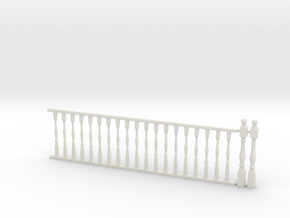 Railing w/ Balustrade 1:48 in White Strong & Flexible