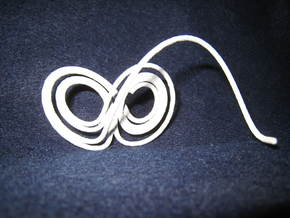 Lorenz Butterfly (Lorenz Attractor) in White Strong & Flexible