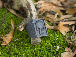 Ring Skull in Matte Black Steel