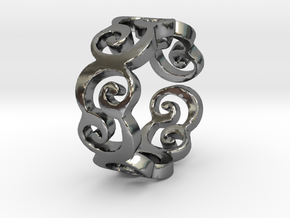 C Ring Thick by Cameleor Ring Size 7.5 in Polished Silver