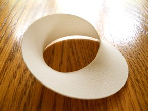 Mobius strip minimal surface (2¾ in) in White Strong & Flexible Polished