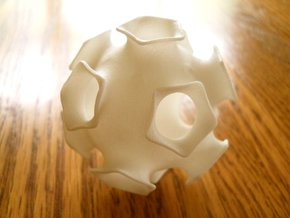 Icosahedral minimal surface 2 (solid, 2 in) in White Strong & Flexible Polished