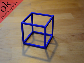 cubemodel in Blue Strong & Flexible Polished