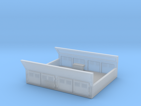 GE Gas Turbine Battery Box (Short) - (N Scale) 1:1 in Frosted Ultra Detail
