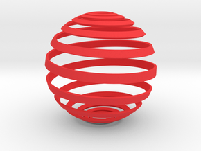 Loxodrome ornament in Red Strong & Flexible Polished