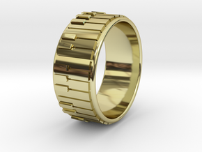 Piano Ring - US Size 09.75 in 18k Gold Plated