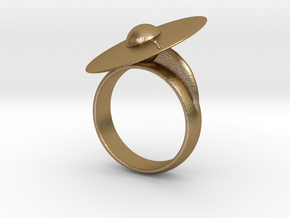 Solar System Rings in Polished Gold Steel