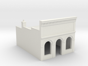 Z-Scale Millie's Cafe Basic Structure in White Strong & Flexible
