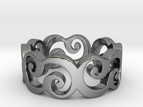 C Ring Thick by Cameleor Ring Size 7.75 in Polished Silver