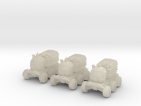 6mm Moon Buggy (3 Pcs) in White Acrylic