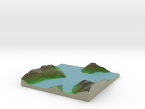 Terrafab generated model Mon Jun 08 2015 16:08:11  in Full Color Sandstone