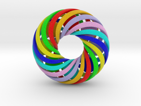 0173 8-Torus [2-2-4-4] & 8 Ball (n=8, 10.0cm) in Full Color Sandstone